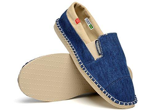 Zapatos Alpargatas Havaianas Originales Yate De 2 Verde Militar Bleu
