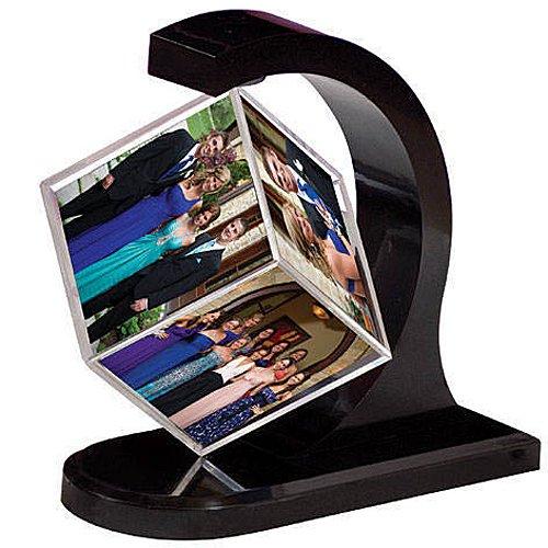 Shindigz Black Unimprinted Floating Photo Cube