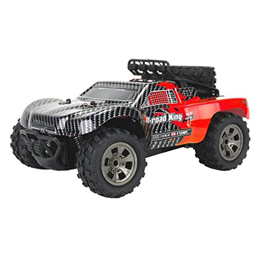 Gbell RC Racing Cars Off-road Rock Vehicles,1:18 2WD High Speed Buggy Hobby Racing Car Green Red,Birthday Christmas Gifts for Kids (Red) by Gbell