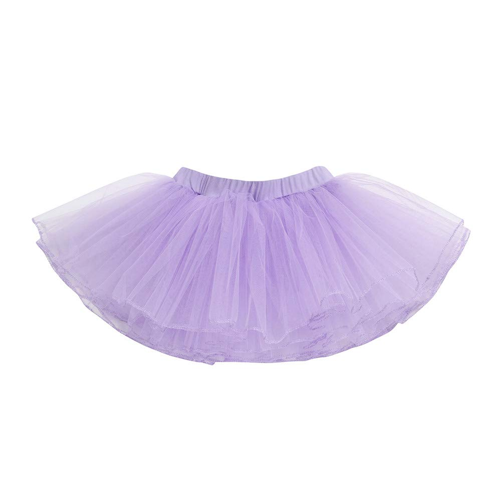 OTINICE Girls Party Ballet Tutu Leotard Skirt Princess Short Sleeve Danceware Costume Purple