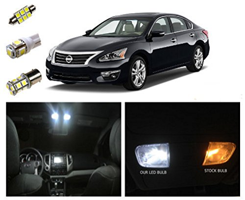 13 nissan altima led package interior tag reverse lights 11 pieces buy online in uae for Led lights for car interior amazon
