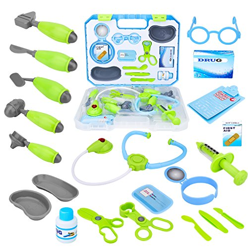 Kids Pretend Play Toy Doctor Kit, Toddler Girls Doctor Play Toy Medical Set in Sturdy Case, Toy Medical kit for Boys by Toy Choi's