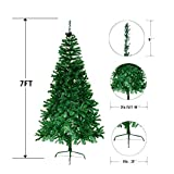 7' Artificial Christmas Tree Eco-Friendly Pine Green Or White (Green)