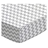 SheetWorld Fitted Cradle Sheet - Grey Chevron Zigzag - Made In USA - 18 inches x 36 inches (45.7 cm x 91.4 cm)