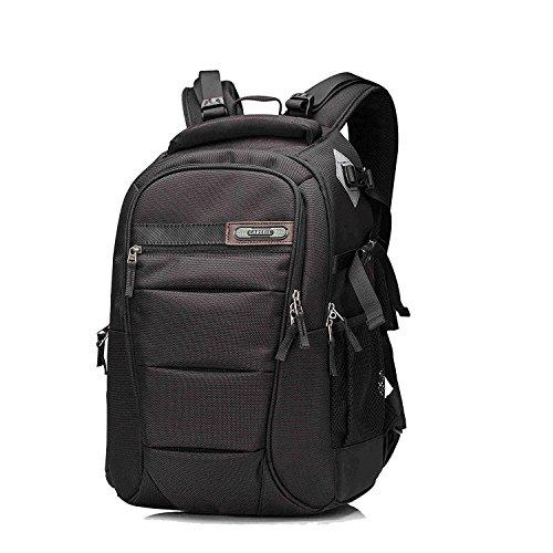 Multifunktions-DSLR-SLR-Kameratasche Reise-Outdoor-Tablet-Laptop-Tasche Wasserdichte, dauerhafte Kamera-Rucksack für Sony Canon Nikon Olympus SLR / DSLR Kameras, Objektiv und Zubehör (Red-S) Schwarz-s