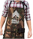 Grill Sergeant Camo Apron - Funny Military BBQ Grill Apron - Adjustable Neck