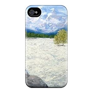 Iphone 4/4s Hard Back With Bumper Silicone Gel Tpu Case Cover White Water Manali