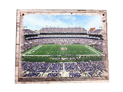 Artissimo Designs Plank Sports Stadium and Arenas Canvas Artwork (Baltimore Ravens)