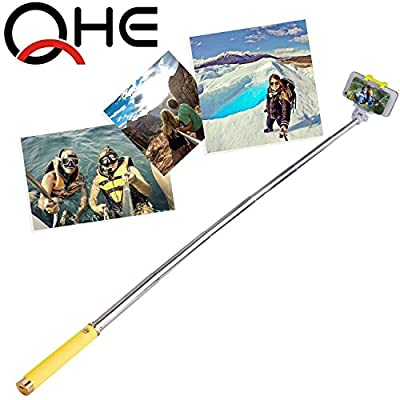 Selfie Stick, FlexionTM QuickSnap Pro 3-In-1 Self-portrait Monopod Extendable Wireless Bluetooth Selfie Stick with built-in Bluetooth Remote Shutter With Adjustable Phone Holder for iPhone 6, iPhone 6 Plus, iPhone 5 5s 5c, Android