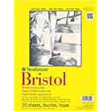 """Strathmore Artist Papers 300 Series Bristol Board Paper Pad Vellum Surface (9"""" x 12"""")"""
