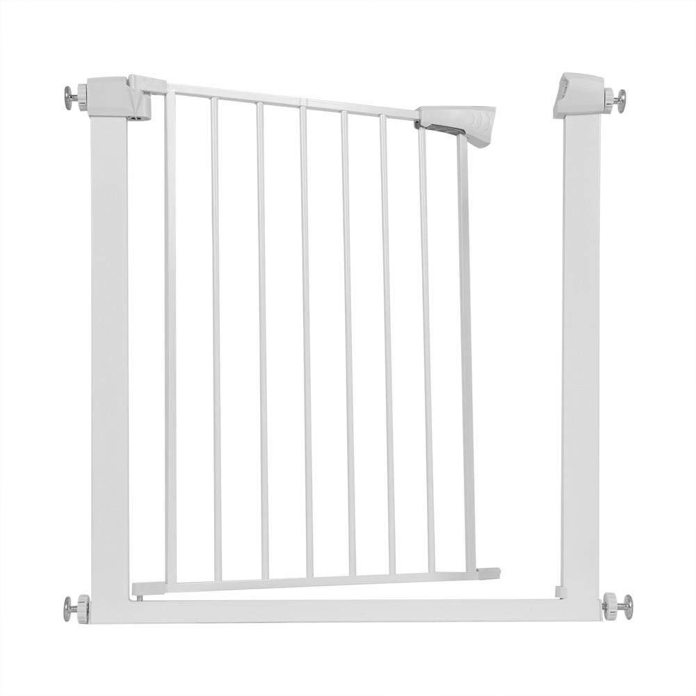 73 x 78 x 4 cm Barrera de Seguridad para Beb/é y Mascotas Valla de Seguridad Ajustable para Pasillos y Escaleras