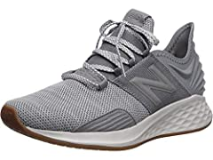 The impressive New Balance fresh foam Roav running shoes are loaded with built-in technology to make your day More enjoyable. The midsole features fresh foam cushioning which provides a feeling of plush comfort while remaining lightweight. Nd...