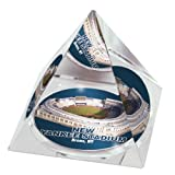 "MLB New York Yankees Stadium in 2"" Crystal Pyramid with Colored Windowed Gift Box"