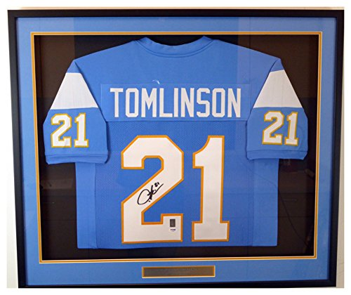 San Diego Chargers LaDainian Tomlinson Autographed Signed Framed Blue Jersey - PSA/DNA Authentic ()