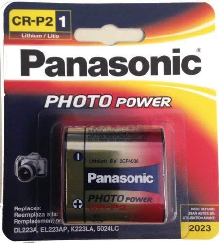 (Panasonic CR-P2PA/1B CRP2 DL223, 6v Power Photo Lithium Battery)