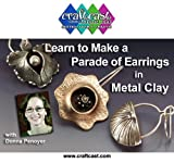 Learn to Make Earrings with Metal Clay and PMC