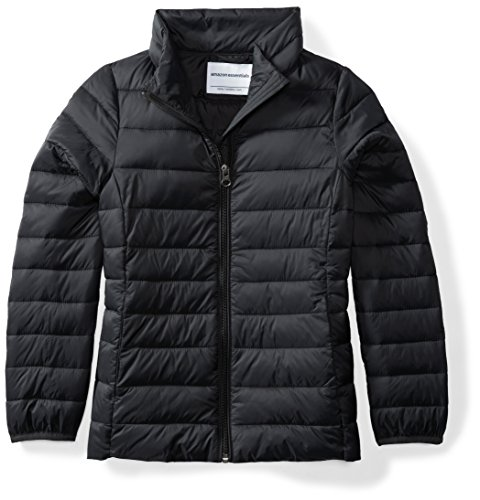 Price comparison product image Amazon Essentials Girls' Lightweight Water-Resistant Packable Puffer Jacket, Black Caviar, X-Small