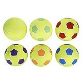 MAC - T Indoor Felt Soccer Ball Set - Size 4 - Set of 6 Balls - Assorted Colors
