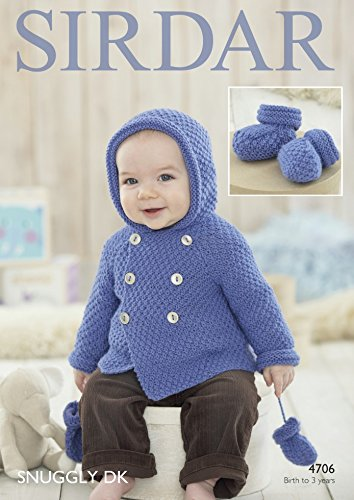 Amazon Sirdar Baby Coat Mittens Booties Snuggly Knitting