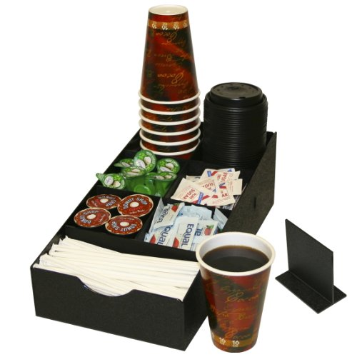 [Coffee Condiment Organizer with 8 Compartments. Comes with 1 Extra Movable Divider] (Countertop Condiment Dispenser)