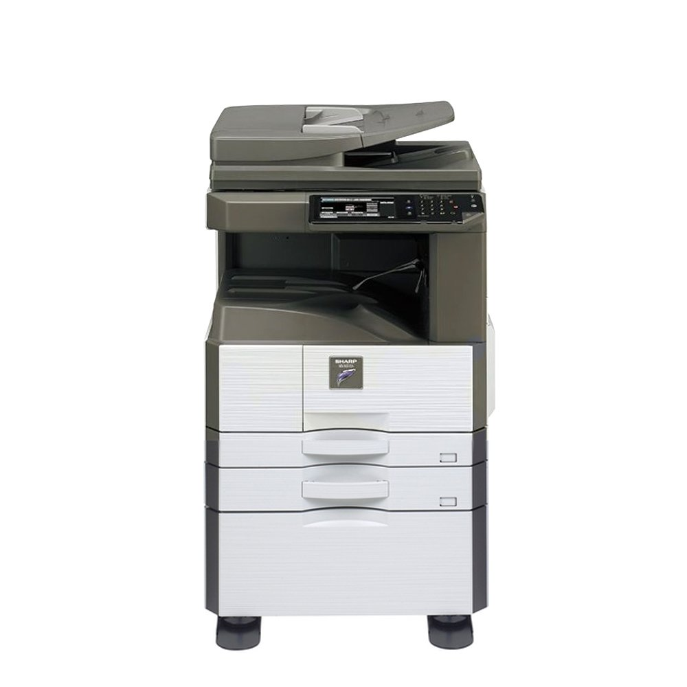 Sharp MX-M266N Ledger Tabloid Mono B&W Laser Copier Printer Scanner - 26ppm, Copy, Print, Scan, 2 Trays and High Stand