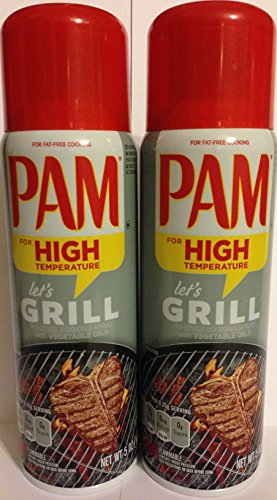 Pam No-Stick Cooking Spray - Grill - For High Temperature - Net Wt. 5 OZ (141 g) Each - Pack of 2 - Pam Non Stick Spray