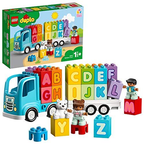 LEGO DUPLO Mijn eerste alfabet vrachtwagen 10915 ABC letterspeelgoed voor peuters, leuk en leerzaam bouwspeelgoed (36…