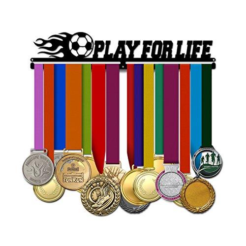 Life Medal - Play for Life - Soccer Medal Hanger