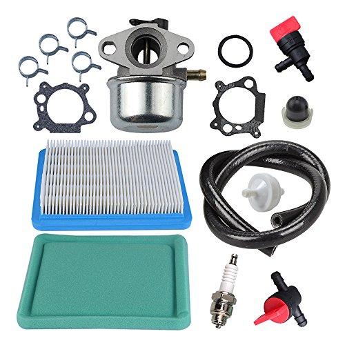 (Panari Carburetor + Tune Up Kit Air Filter Spark Plug for Briggs and Stratton 799868 498170 497586 497314 698444 498254 497347 497410 496115)