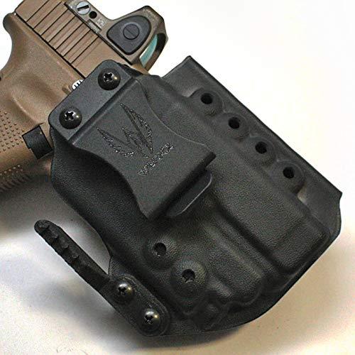Werkz M6 Modular Holster for Glock 19 / 19x / 23/32 / 45 Gen 3/4/5 with Olight PL-Mini Valkyrie 2, Ambidextrous, Solid Black