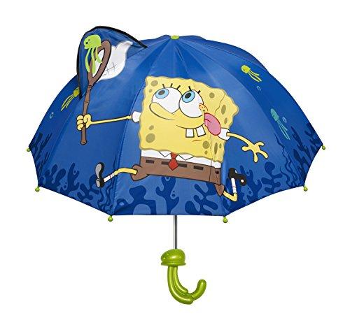 Kidorable Blue SpongeBob SquarePants Umbrella for Boys With Fun Pop-Up Squid One (Spongebob Umbrella)