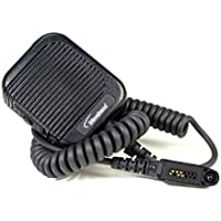 Rugged Fully Waterproof Mil Spec 810F certified speaker microphone with volume control and 3.5mm accessory jack for Motorola EX500, EX600,Series Radio.Compare to Motorola PMNN4022 and save