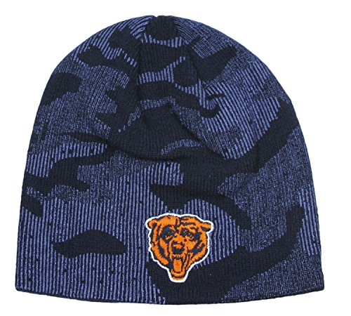 Chicago Bears NFL Little Boys Navy Uncuffed Knit Beanie Hat, Navy (4-7)