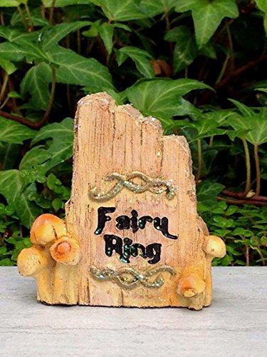 Adjore Miniature Dollhouse Fairy Garden ~ Classic Fairy Ring Stone Sign ~ Best Outdoor Accessory