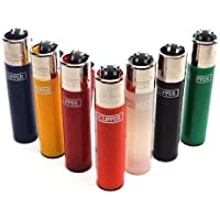 Bundle of 12 Original Clipper Lighters - Official Clipper Lighters with Removable Flint Housing - Assorted Colors by Clipper