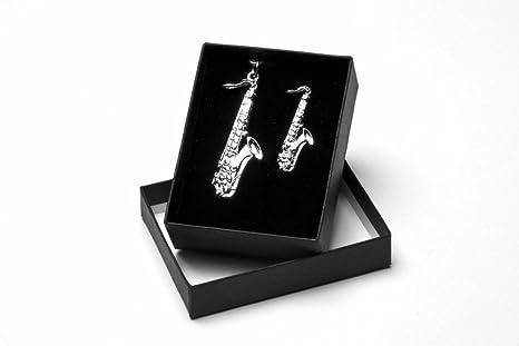 Para saxofón llavero con a juego para saxofón Pin. En caja de regalo