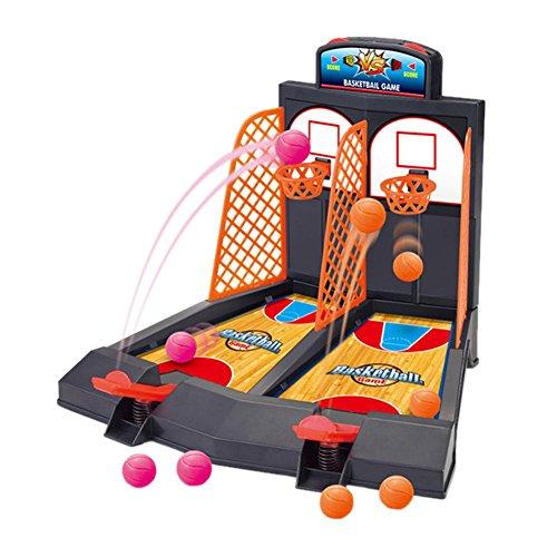 バスケットボールゲーム 2人対戦 玉入れゲーム ミニバスケットボール テーブルトップ ボールゲーム セット シュートゲーム 子供 知育 卓上ゲーム キッズ アクション トイ おもちゃ Prosperveil