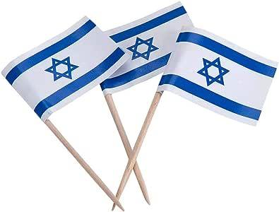 Israel | Israeli Flag Toothpicks (100)