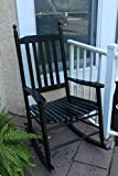 LIFE Home Oliver and Smith - Nashville Collection - Wooden Black Patio Porch Rocker- Rocking Chair - Made in USA - 24.5'' W x 33'' D x 46'' H