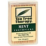 Cheap Tea Tree Therapy Toothpicks – 100 Toothpicks – Case of 12