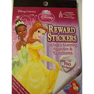 Disney Princess Reward Stickers ~ Includes Learning Activities, Certificates, and Over 100 Stickers (Tiana & Belle Cover): Toys & Games