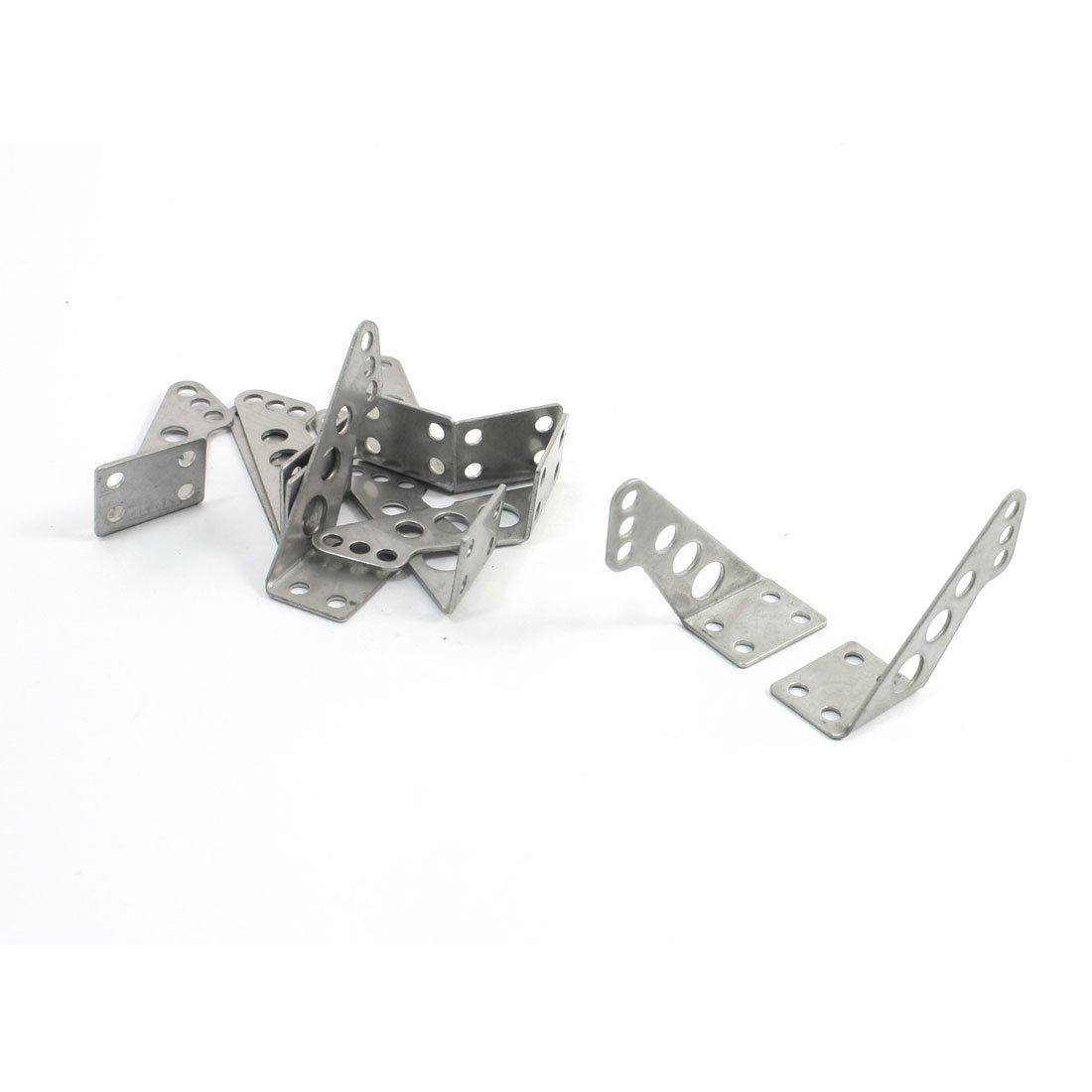 5Pairs Silver Tone Stainless Steel Triangle Control Horns 17x13x28mm