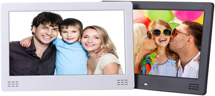 USB and SD Card Slots and Remote Control,White TONGTONG 12.5 Inch Digital Photo HDMI Slim Frame Digital Picture Frame Motion Sensor
