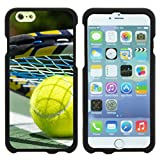 Apple iPhone 6 Case | iPhone 6s Case [Slim Duo] Fitted 2 Piece Hard Snap On Case Rubberized Coat on Black Sports and Games Design by TurtleArmor - Tennis Ball and Racket