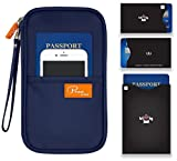 P.travel Passport wallet Oxford Navy with RFID Stop