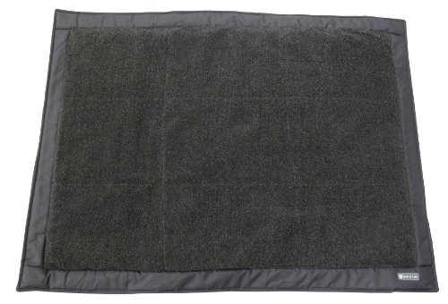 Ruff and Tuff Self Inflating Travel Dog Bed with Fleece Top, Charcoal, 32-Inch by 42 Inch