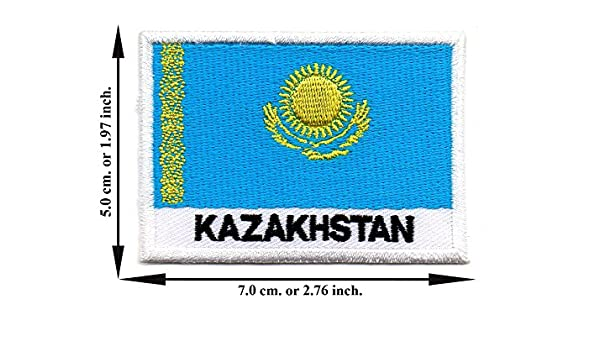 Kazakhstan Embroidered Sew or Iron on Patch Badge