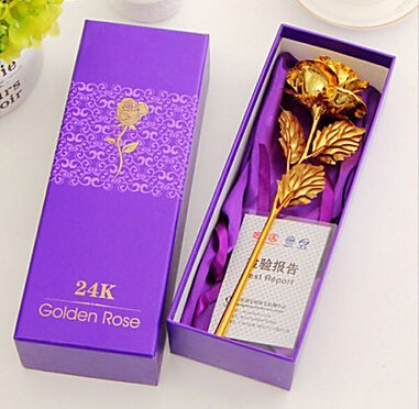 24K Gold Foil Golden Rose Valentine's Day Gift / . : . The rose will never wither away as your love. . . Eternal love for lovers, mother, great gidt for birthday,Valentine's day,anniversary