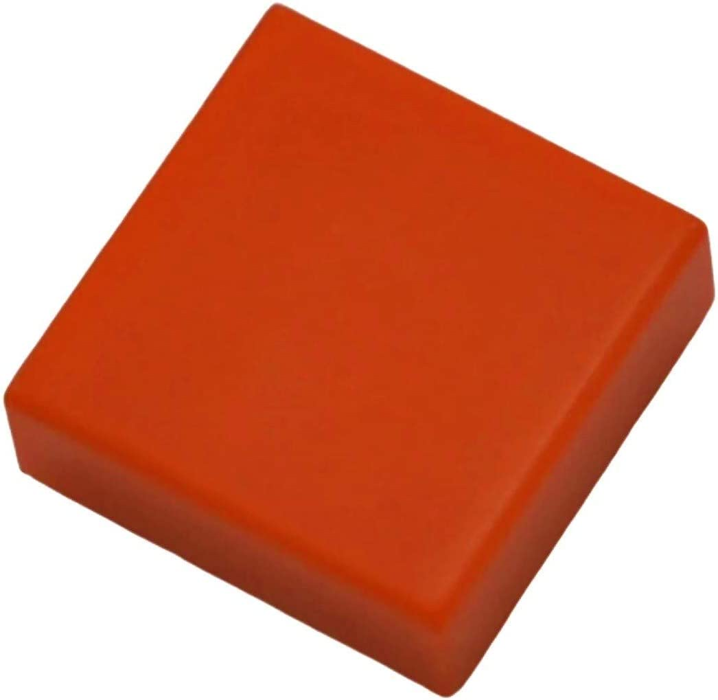 x100 Pieces Lego Red 1x2 Flat Tiles Smooth Finishing Tile Buildings Roof Floor