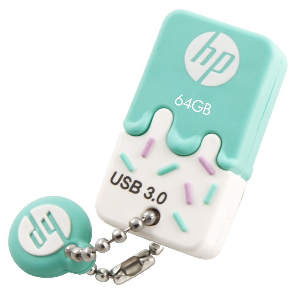 Pendrive HP 64GB USB 3.0 Rubber Ice Cream